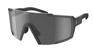 Óculos  Shield Preto Fosco Lente Cinza