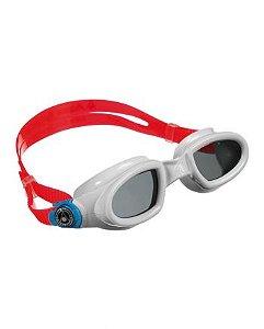 Óculos de Natação Aqua Sphere Mako Branco Presilha Azul Lente Azul