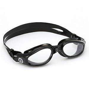 Óculos de Natação Aqua Sphere Kaiman Preto Lente Transparente