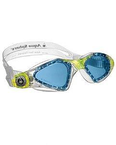 Óculos de Natação Aqua Sphere Kayenne JR Transparente e Verde Lente Azul