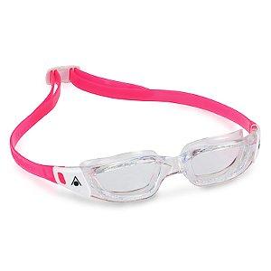 Óculos de Natação Aqua Sphere Kameleon JR Branca e Transparente