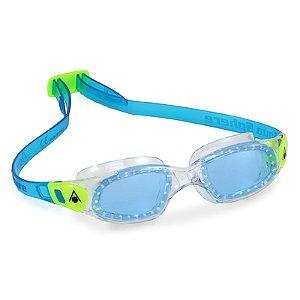 Óculos de Natação Aqua Sphere Kameleon Kid Transparente e Lima Lente Azul
