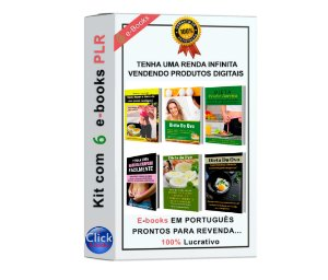 Kit com 6 e-Books PLR