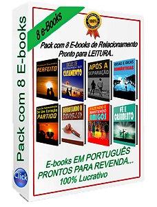 Pack com 8 e-Books de RELACIONAMENTO