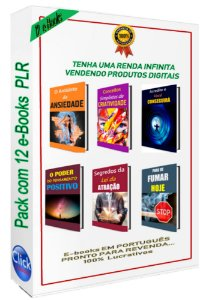 Pack com 12 E-books PLR