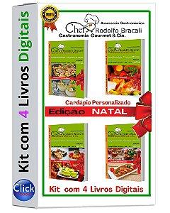 Kit com 4 Livros Digitais Edição Natal