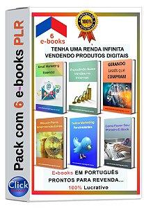 Pack com 6 E-books PLR de Marketing Digital
