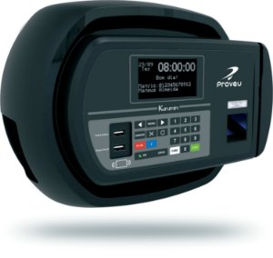 Relógio de Ponto Biometria/Proximidade Kurumim Proveu + Bobina de 300m REP3 MAX BR PROX BIO