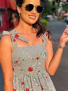 Vestido Bordado Rosas