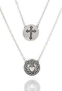 Escapulário Sagrado Coração de Jesus e Cruz