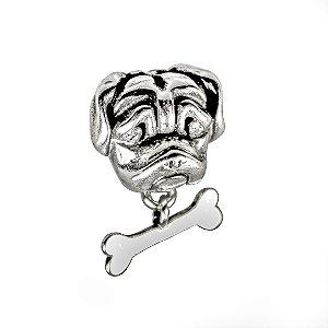 Berloque prata cachorro