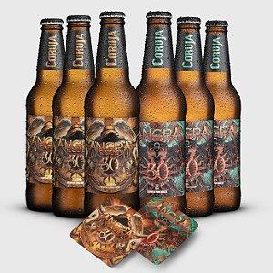 Combo Cervejas Angra e Coruja - 355ml - Ganhe 10 bolachas Edição Especial