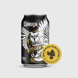 Cerveja Lager Coruja - Lata 350ml