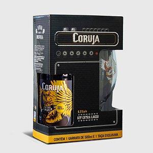 Kit Extra Lager Coruja 500ml - Uma Garrafa + Um Copo