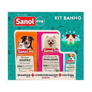 Kit Sanol Dog Shampoo Colônia e Condicionador