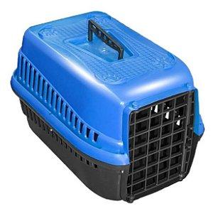 Caixa  De Transporte Para Cães Gatos N2 - Azul