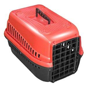 Caixa De Transporte Para Cães Gatos N2 - Vermelho
