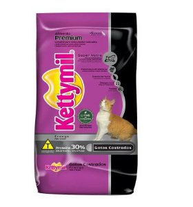 Ração Kettymil Gatos Castrados Frango para Gatos Adultos 10,1kg