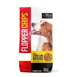 Ração Flopper Chips Carne com Batatas para Cães Adultos 15kg