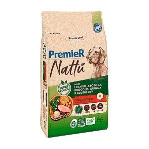 Ração Premier Nattu para Cães Adultos Sabor Frango e Abóbora 12kg
