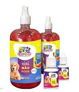 Educador Canino e Felino Xixi Pode + Xixi Não Pode para Cães e Gatos Cia Do Pet 500ml