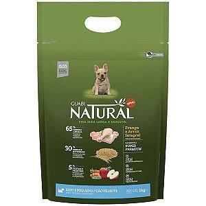 Ração Guabi Natural Frango e Arroz Integral para Cães Filhotes Raças Pequenas