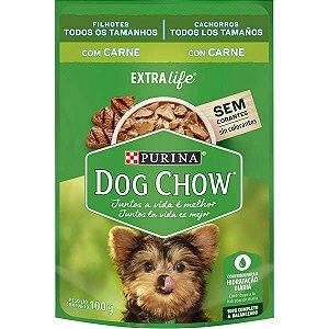 Ração Úmida Sache Purina Dog Chow Extra Life Carne para Cães Filhotes 100g