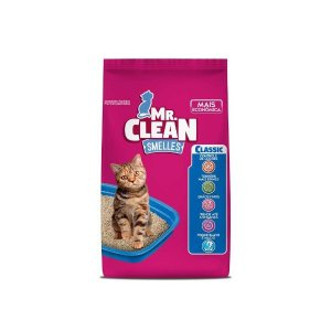 Areia Sanitária Mr. Clean Classic Floral Para Gatos