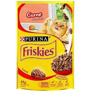 Ração Nestlé Purina Friskies Sachê Carne ao Molho para Gatos-85g