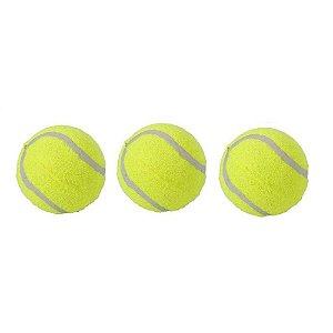Brinquedo Para Cães  Kit Bola De Tênis Com 3 Unidades