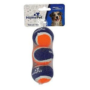 Bola De Tênis Mini Para Cães com 3 Unidades Homepet