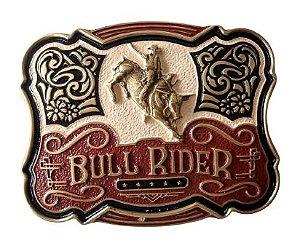 Fivela Para Cinto Country De Zamac Zeon Touro Bull Rider 11223