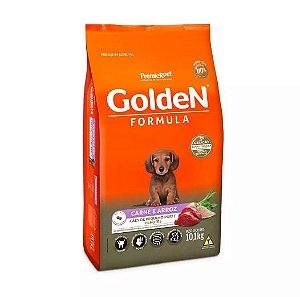 Ração Golden Mini Bits Para Cães Filhotes Sabor Carne Arroz 10,kg