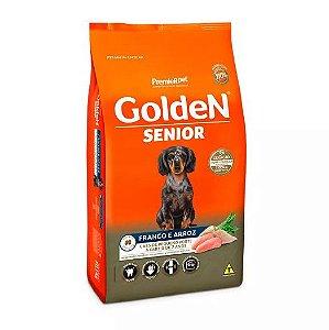 Ração Golden Mini Bits Senior para Cães Adultos Frango e arroz 10,1kg
