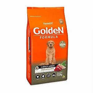 Ração Golden para Cães Adultos Sabor Carne e Arroz 15,kg