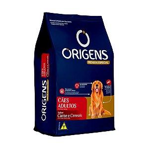 Ração Origens para Cães Adultos sabor Carne e Cereais 15,kg
