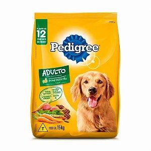 Ração Pedigree para Cães Adultos Sabor Carne e Vegetais 15,kg