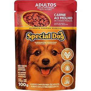 Ração Úmida Special Dog Sachê Carne para Cães Raças Pequenas 100g