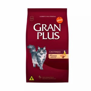 Ração GranPlus Gatos Adultos Castrados Frango e Arroz 10kg