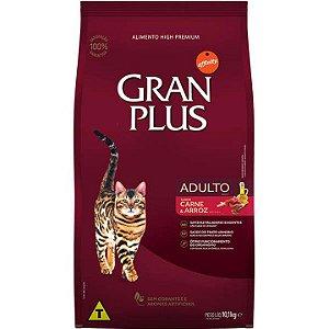 Ração Granplus para Gatos Adultos sabor Carne e Arroz 10kg