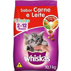Ração Whiskas Carne e Leite para Gatos Filhotes 10kg