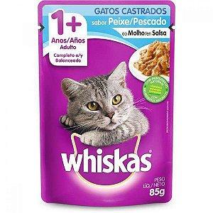 Ração Úmida para Gatos Whiskas  Sache Sabor Peixe/Pescado
