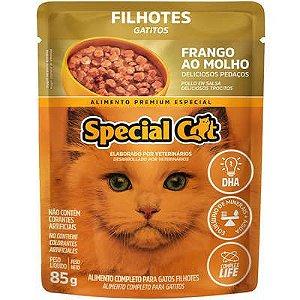 Ração Úmida Special Cat Sache Frango para Gatos Filhotes 85g
