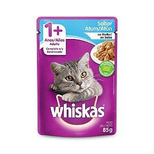 Ração Úmida Whiskas Sache Atum ao Molho para Gatos Adultos