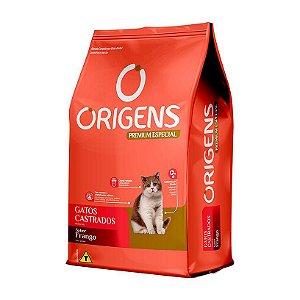 Ração Origens para Gatos Castrados sabor Frango