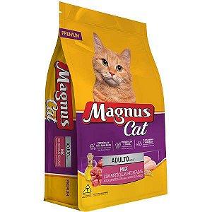 Ração Magnus Cat Mix Partículas Recheadas para Gatos Adultos