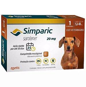Antipulgas Simparic para cães 5 a 10Kg - 20mg Zoetis