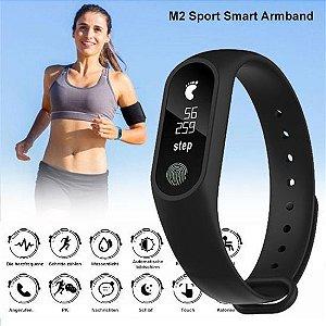 Pulseira Inteligente Fitness M2 Smartband Monitor Cardíaco Bluetooth-PROMOÇÃO