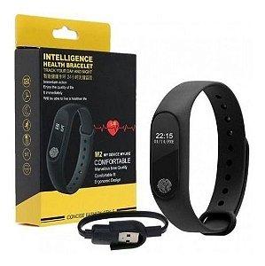 Pulseira Smart watch Inteligente Fitness M2 Smartband Monitor Cardíaco Bluetooth-PROMOÇÃO