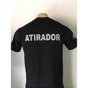 CAMISETA ATIRADOR CAC EXERCITO BRASILEIRO PRETA